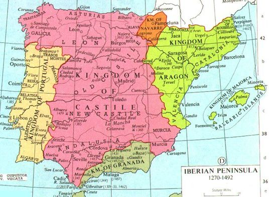 Map Of Spain 8th Century.Pre Empire Spanish Imperialismjared Devoe Menappe Kinkoue Poufong